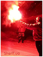 Факел пиротехнический (фальшфейер, фаер) красного огня MF-0260