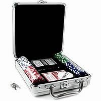 Покерный набор в кейсе на 100 фишек PN62036