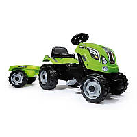 Трактор педальный с прицепом FARMER XL Smoby 710111 зеленого цвета