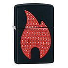 Зажигалка Zippo 29106 emblem flame black matte черная 29106, фото 2