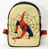 Детский джинсовый рюкзак человек паук-2, фото 1