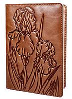 "Обложка для паспорта VIP (хамелеон оливковый) тиснение ""IRIS"", фото 1"