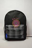 Рюкзак молодёжный Bagland чёрный в клеточку