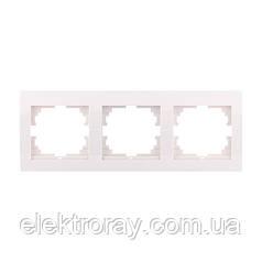 Тройная рамка горизонтальная без вставки Lezard Deriy