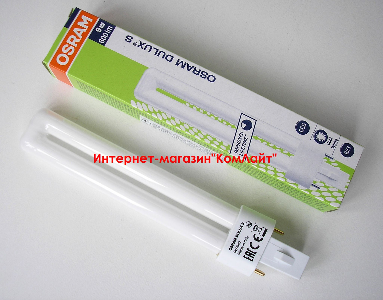 Лампа OSRAM DULUX S 9W/840 G23 (Италия)