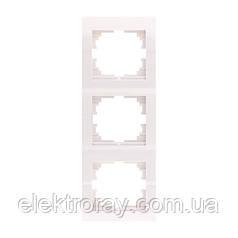 Тройная рамка вертикальная без вставки Lezard Deriy