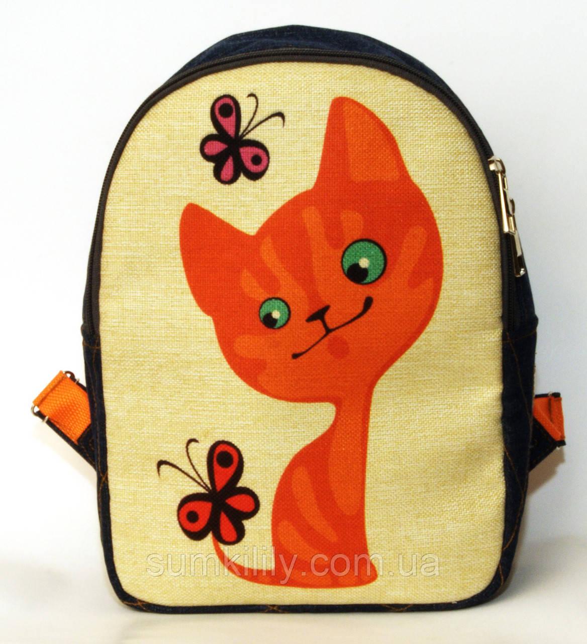 Детский рюкзак котенок