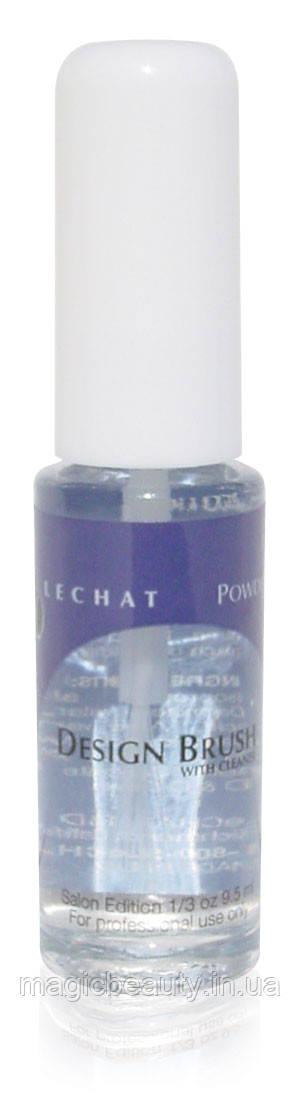 Designer Brush with cleaner Lechat - Кисточка для дизайна цветными гелями со смывкой в бутылочке, 10 мл