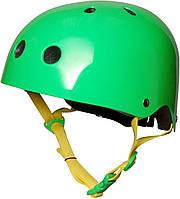 Шлем детский Kiddi Moto неоновый зелёный, размер M 53-58см