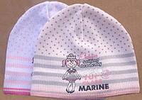 Вязаная демисезонная шапочка для девочки от BARBARAS Польша