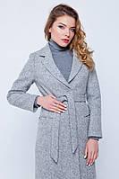 Длинное пальто «Валери» светло-серое