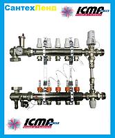 Коллектор для теплого пола в сборе Icma на 2 контура, фото 1