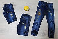 Детские джинсы для девочки с вышивкой Турция р.1,8,10 лет