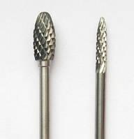 "Борфреза, тип ""H"", Язычок пламени, диаметр  3 мм, хвостовик 3,0 мм"