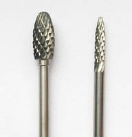 "Борфреза, тип ""H"", Язычок пламени, диаметр  6 мм, хвостовик 3,0 мм"