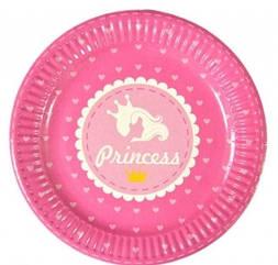"Набір тарілок 10 штук ""Принцеси"" розмір 180 мм"