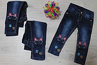 Детские джинсы для девочки с вышивкой Турция р.1,2,3,4,10 лет