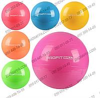 Мяч для фитнеса MS 0382, фитбол, 65 см, резина, 6 цветов, 900 гр, в кульке 17*13*8 см, занятия спортом, фитнес