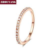 Кольцо позолота с цирконами для невесты