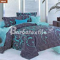 Двуспальное постельное белье из бязи синие вензеля