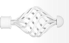 Декоративный наконечник Арезо для кованого карниза 25 мм.