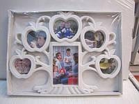 Семейная фоторамка в виде дерева на 6 фотографий