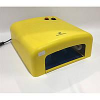 Ультрафиолетовая лампа для ногтей 36 вт жёлтая