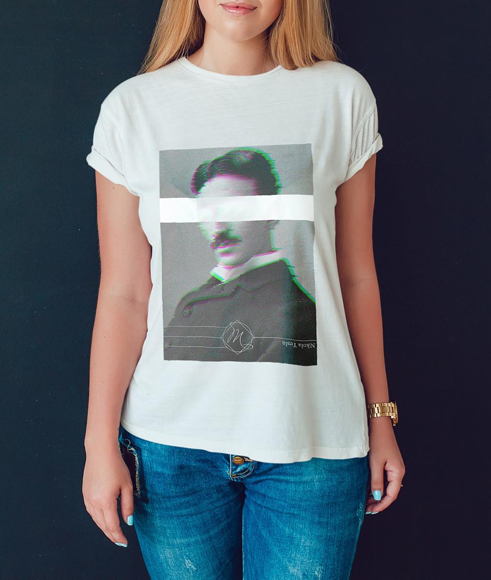 "Женская футболка ""Никола Тесла"""