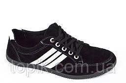Три в одном мокасины кроссовки туфли мужские искусственная замша черные. (Код: 370)