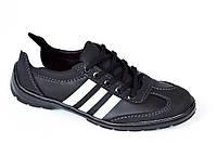 Три в одном мокасины кроссовки туфли мужские искусственная кожа черные. (Код: 371), фото 1