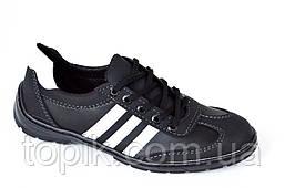 Три в одном мокасины кроссовки туфли мужские искусственная кожа черные. (Код: 371)