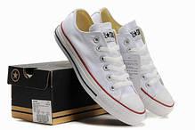 Кеды мужские Converse All Star низкие белые топ реплика, фото 2