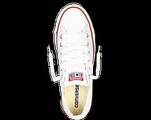 Кеды мужские Converse All Star низкие белые топ реплика, фото 3