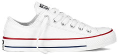 Кеды женские Converse All Star низкие белые топ реплика