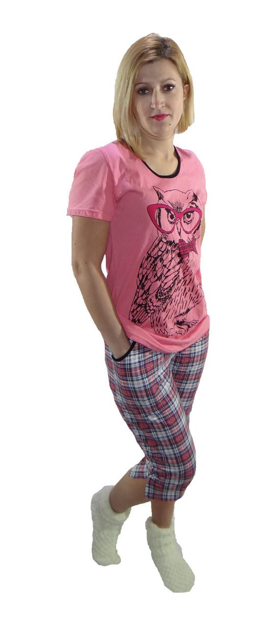 "Пижама футболка с бриджами ""Совушка"" р.44-56"