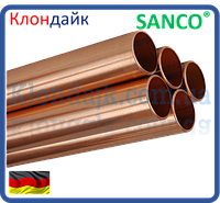 SANCO Труба медная твердая Wieland 18,0 x 1,0 (2,5 м.п.)