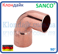 SANCO Колено медное 35/90° 1 муфта