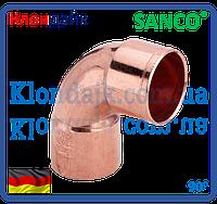 SANCO Колено медное 76/90° 2 муфти