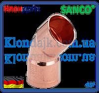 SANCO Колено медное 76/45° 2 муфти