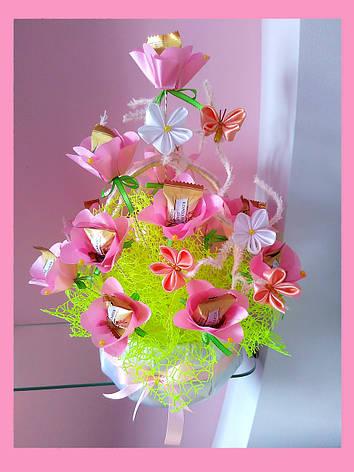 Букет из конфет  Розовый горизонт, фото 2
