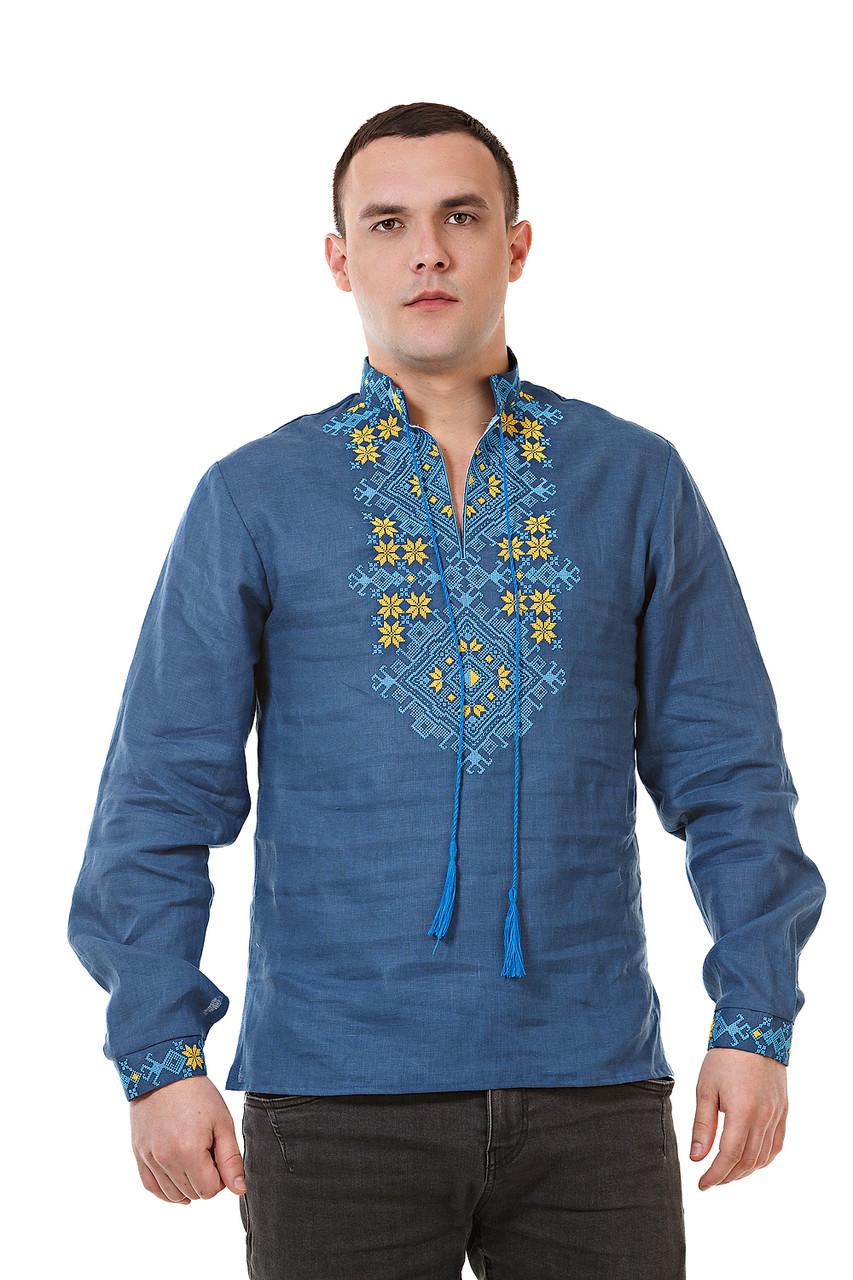 Мужская синя вышиванка