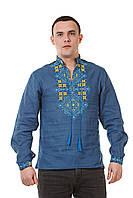 Мужская синя вышиванка, фото 1