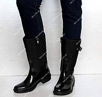 Невисокі гумові жіночі зручні чоботи (ч-12)