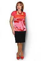Блуза женская большого размера атласная