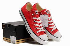 Кеды Converse All Star низкие красные топ реплика