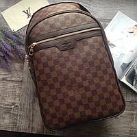 Кожаный рюкзак мужской женский портфель Louis Vuitton сумка кожаная