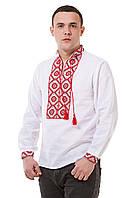 Белая мужская вышиванка, фото 1
