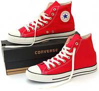 Женские кеды Converse All Star High красные