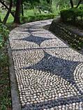Натуральный природный камень, речная галька декоративная белая 7х10см (0223), фото 4