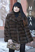 "Шуба из российского соболя баргузин ""Роял"" sable jacket fur coat"